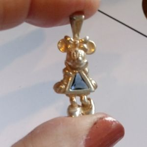 Vintage Minnie Mouse 925 Birthstone Pendant